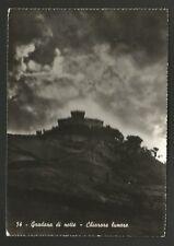 AD9288 Pesaro - Provincia - Gradara di notte - Chiarore lunare
