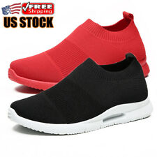 Men's Casual Slip on Running Sneakers Athletic Sport Tennis Fitness Shoes Gym