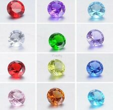 FULL SET 12 PCS CRYSTAL GEM Birthstone Floating Charms FOR living locket ~ROUND