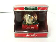 Cocacola Snow Globe Ornament Polar Bear Penguin Crate Christmas