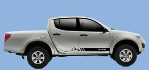 Mitsubishi L200 4life Mountain side stripes graphics set stickers decals 4x4