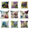Hydrangea Flower Throw Pillow Case Sofa Car Cushion Cover Home Decor 18x18 inch