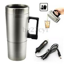Portable 12V Car Stainless Steel Kettle Camping Travel Hot Tea Coffee Milk Cup
