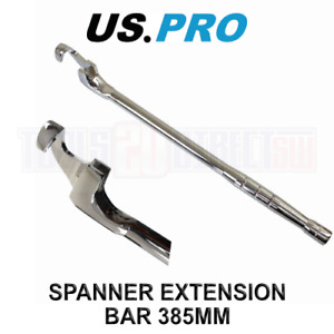 US PRO Universal Spanner Extender Extension Wrench Power Bar Tool Bar 385MM