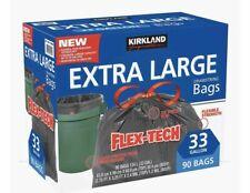 Kirkland Signature Extra Large Flex-Tech 33-Gallon Trash Bags 90-count