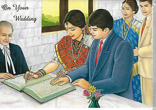 """INDIAN """"ON YOUR WEDDING"""" - BEAUTIFUL QUALITY CARD & ENVELOPE - HINDU ASIAN"""