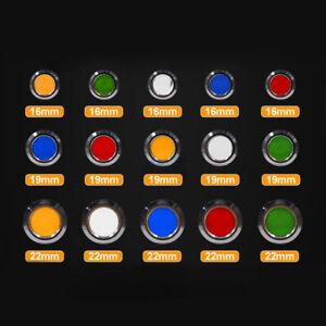 16/19/22mm LED Indicator Warning Signal Light Metal Thread DC/AC 9-24V AC 220V