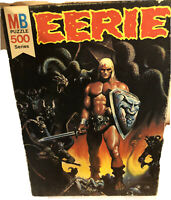 1977 Milton Bradley Warren EERIE Magazine 500 Series Puzzle 4777-3 complete