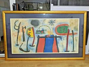 LARGE JOAN MIRO Vintage Print of Painting PEINTURE in beautiful 160x100 cm Frame