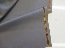 Grey Striped Super 130's Wool & Cashmere Suiting Fabric. Made in England