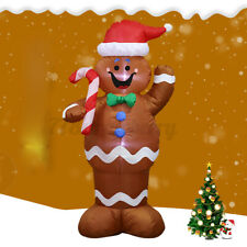 5FT LED The Gingerbread Man Christmas Xmas Inflatable Light Yard Garden Outdoor