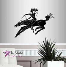 Wall Vinyl Amazon Girl Riding Horse Amazonian Warrior Woman Wall Sticker 2000