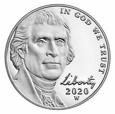 2020-W Proof Jefferson Nickel From the West Point Mint in Original Packaging