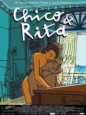 Affiche 120x160cm CHICO et / & RITA - 2011 Fernando Trueba, Javier Mariscal NEUV