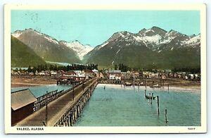 Postcard AK Valdez View of Harbor and Town R03