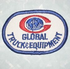 """Global Truck & Equipment Patch - vintage - 3"""" x 2""""  - trucking"""