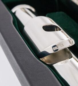Pearl Alto Flute Straight Headjoint I Sterling Silver Lip plate + Riser