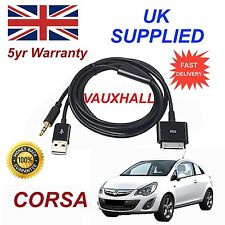 Opel Corsa Serie 3gs 4 4s Iphone Ipod Usb & Aux Audio Cable Negro