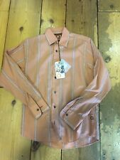 REMUS UOMO Frayed Fashion Shirt/Burnt Orange - Small WAS £50.00 (Old Logo)