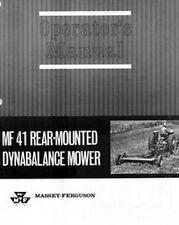 Massey Ferguson MF 41 MF41 Rear Mower Operators Manual