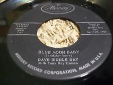 "Rockabilly Psychobilly 45 Dave Diddle Ray ""Blue Moon Baby"" Mercury 1957!"