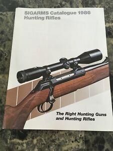 1986 SIGARMS Hunting Rifles  Catalog