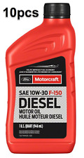 10 Quarts Set Engine Motor Oil Super Duty Diesel Motorcraft XO10W30QFA Ford OEM
