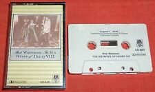 RICK WAKEMAN - THE SIX WIVES OF HENRY VIII - CASSETTE TAPE
