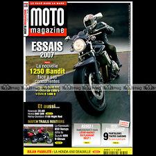 MOTO MAGAZINE N°234 HONDA 650 DEAUVILLE CBR 600 RR CB 1300 S BMW R 1200 R 2007