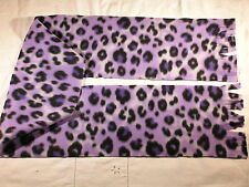 Purple Leopard Skin Fleece Scarf
