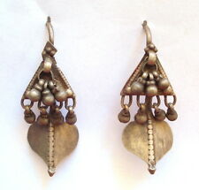 vintage antique ethnic tribal old silver earrings gypsy hippie belly dnace india