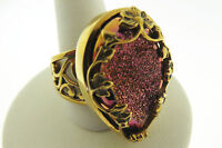Sajen by Marianna and Richard Jacobs Pink Drusy  Bronze Ring