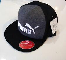 Puma Evercat #1 Flat Bill SnapBack Hat Cap Black/Dark Heather Gray & White