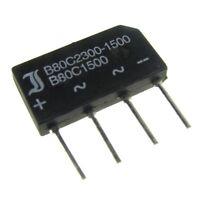 5 Brückengleichrichter 80V 1,5A Gleichrichter flach B80C1500 A + ~ ~ – 094663