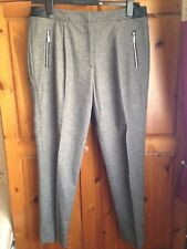 French Connection Ladies Grey Wool Trousers Size 14