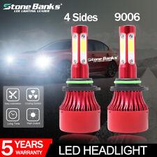 4-Side 9006 HB4 LED Headlight Foglight Kit CAR 72W 16000LM 6000K Bulbs