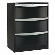 BULK Buy - 4 X Stilford 3 Drawer Lateral Filing Cabinet Black