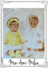 Knitting Pattern Copy DOLLS CLOTHES PREM BABY MATINEE SET COAT BONNET Tiny Tears