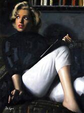 Di CAPRI ORIGINALE dipinto ad olio su tela Marilyn Monroe Ritratto | Bianco Edizione 18