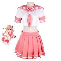 FGO Apocrypha Rider Astolfo Cosplay JK School Uniform Sailor Anime Costume