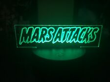 Mars Attacks Light Up Prop Mask Display plate By Chainsaw Graphics