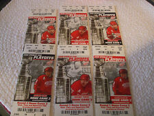 2008 Detroit Red Wings SC playoff ticket stubs lot of 6 - Rounds 1 - 3 VGC L@@K!