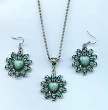 SET Halskette + Ohrhänger Necklace Earring  Indianer Southwest