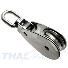 Edelstahl Block 50mm knickbar Seilrolle Umlenkrolle Blockseilrolle Niro V2A VA
