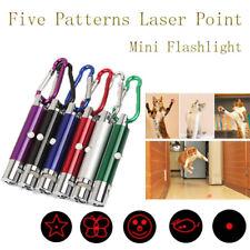 Pet Cat Kitten Toys LED Laser Pointer Flashlight Pen With Cute Animation Pattern