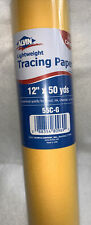 """Alvin 55c-g Canary Tracing Paper Roll 12"""" X 50yd"""