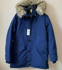 $498 Polo Ralph Lauren Faux Fur-Trim Down Parka Coat Blue