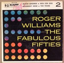 """Roger Williams - The Fabulous Fifties - 7"""" EP Single EX"""