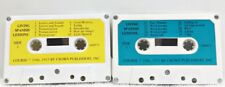 2 Cassette Tapes  LIVING SPANISH LESSONS Course 1946,1955 By Crown Publishers