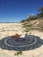 Indian Star Mandala Round Roundie Beach Throw Tapestry Hiipie Gypsy Yoga Mat Rug